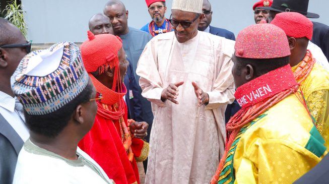 Buhari orders probe of military officers 'selling plots of land' donated by Delta community