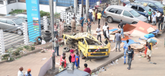 Three killed as plywood falls on commercial buses at Ojuelegba (updated)