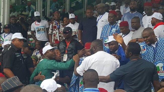 APC convention: Delegates exchange blows during Buhari's speech