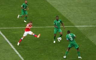 Action from match-day 1: Russia v Saudi Arabia