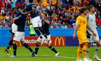 Griezmann scores historic VAR assisted goal in France slim win over Australia