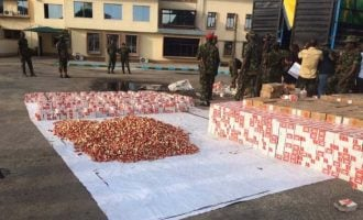 Army intercepts trucks loaded with 300,000 live cartridges in Ogun