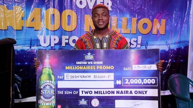 Kaduna and Onitsha produce 18 more millionaires in Star Lager national promo