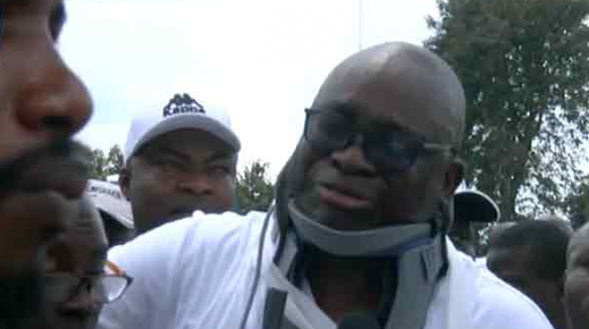 'A policeman slapped me' — Fayose weeps at PDP rally (video)