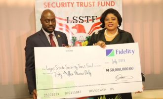Fidelity Bank donates N50m to Lagos State Security Trust Fund