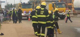 Tanker spills diesel on road in Lagos