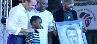 Macron hails Nigerian artist, 11, who painted his portrait in two hours