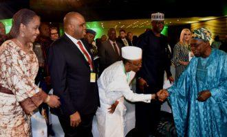 Obasanjo shuns VIP seat at Abuja event
