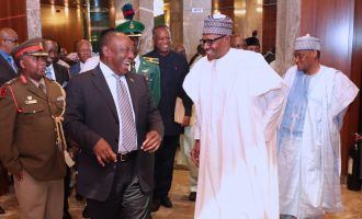 PHOTOS: Buhari hosts South African president at Aso Rock