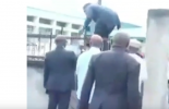 VIDEO: Benue lawmakers scale fence after police blockade