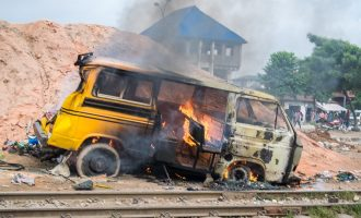 Two killed as train collides with commercial bus in Lagos