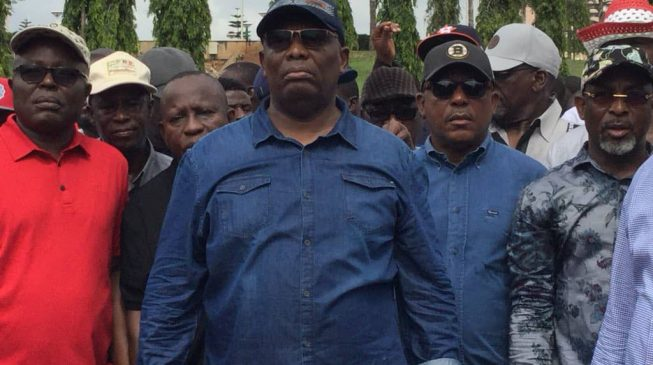 Secondus leads protesters to n'assembly over 'assault' on Fayose