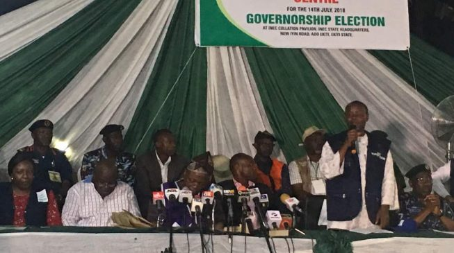 How it went: INEC announces Ekiti guber poll result