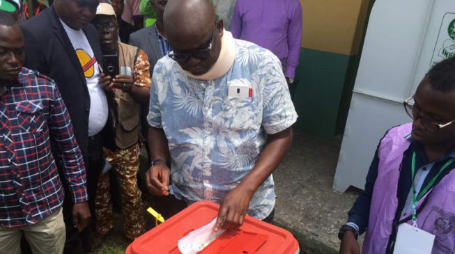 'There is danger ahead but I will win' — Fayose speaks after voting