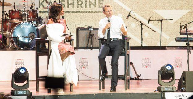 Macron visits Fela's Afrika Shrine