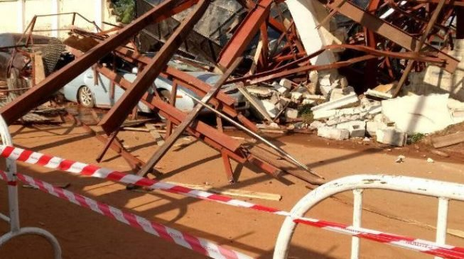 Tragedy averted at Stephen Keshi Stadium as water tank collapses