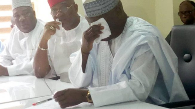 Atiku weeps as he collects PDP presidential nomination form