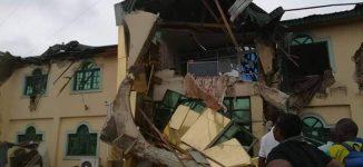 PHOTOS: Oyo demolishes Yinka Ayefele's Music House