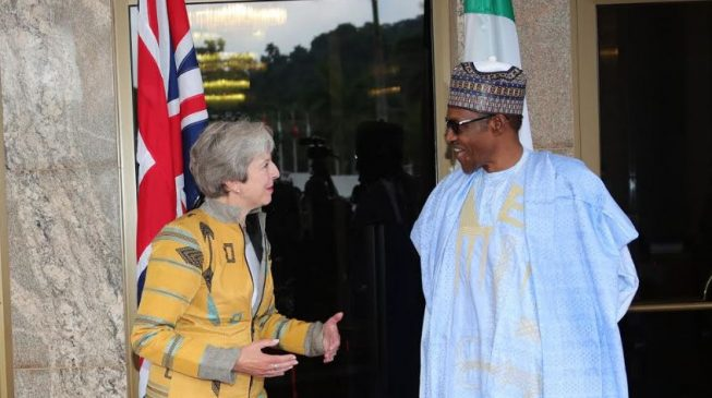 We're nervously monitoring Brexit, Buhari tells May as Nigeria, UK sign new agreements