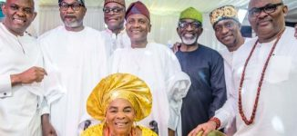PHOTOS: Dangote, Otedola attend 90th birthday of Tony Elumelu's mother
