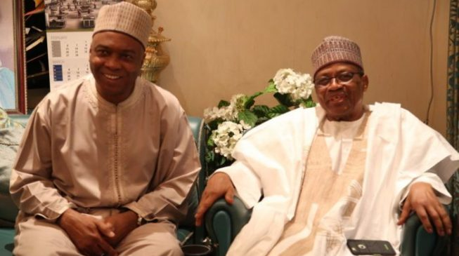 Saraki heads to IBB's residence — after hinting at running for president