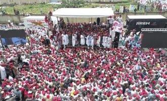 PHOTOS: Massive crowd as Kwankwaso declares for president