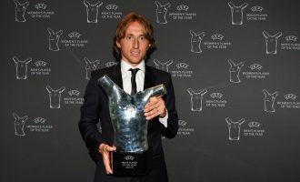 Modric beats Salah, Ronaldo to UEFA player of the year award
