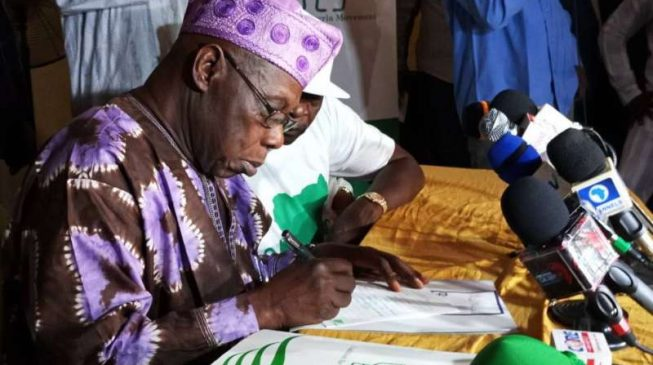 Anti-Buhari coalition suffers setback as Obasanjo-backed party splits