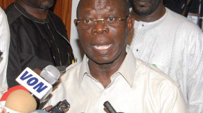 Oshiomhole: Taraba people can't wait to have Ishaku out