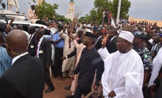 PHOTOS: Massive crowds as APC, PDP lock horns in Buhari's town