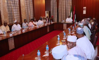 PHOTOS: Buhari holds first meeting with APC senators after Saraki's exit