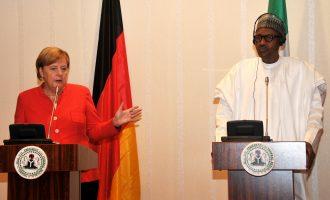 Buhari receives Merkel at Aso Rock