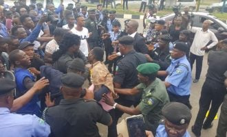 Police teargas protesters demanding release of detained Premium Times journalist