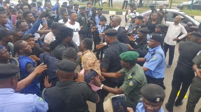Women join protest against relocation of Shell from Rivers