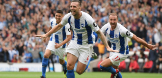 Balogun holds fort in Brighton win over Manchester United