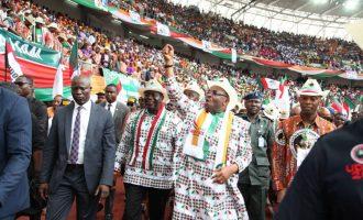 PHOTOS: Massive crowd as Akwa Ibom governor declares for second term
