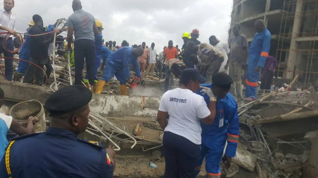 'One killed, children trapped' as 3-storey building collapses in Abuja