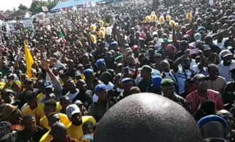 VIDEO: Thousands attend pro-Buhari rally in  Akwa Ibom