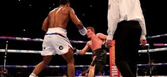 WATCH: The moment Joshua knocked out Povetkin