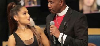 Bishop apologises after 'groping' Ariana Grande at Aretha Franklin's funeral
