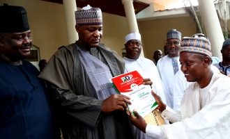 'Dump APC now' — Dogara's constituents present PDP nomination form to him
