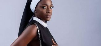 'Try it with hijab' — Beverly Osu bashed for posing semi-nude in nun outfit