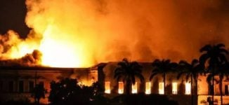 200-year old Brazilian museum housing oldest human skeleton razed by fire