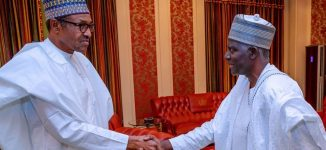 Buhari hosts new DSS DG at Aso Rock