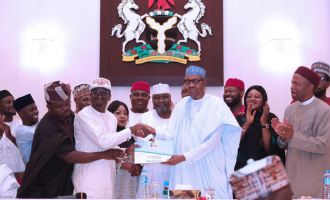 VIDEO: Buhari receives N45m nomination form