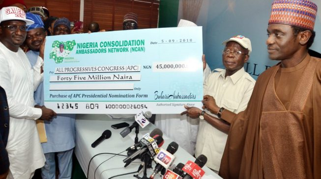 Group pays N45m for Buhari's nomination form