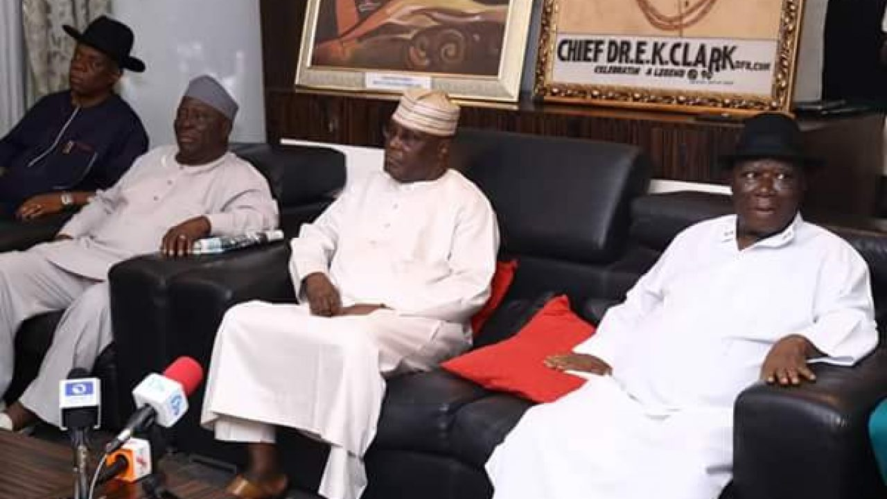 Image result for AtikuAbubakar, members of the southern and middle belt elders forum