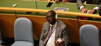 EXTRA: Edo governor dozes off as Buhari delivers speech at UN