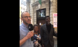 VIDEO: Protesters storm Nigeria's high commission in London for Leah Sharibu