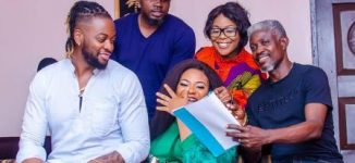 TCL behind-the-scenes: Teddy A, Regina Chukwu, Nkechi Sunday on set of 'Unsane'